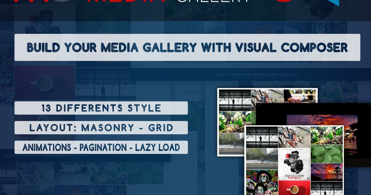 Download Fast Media Gallery For Visual Composer - WP Plugin by ad-theme