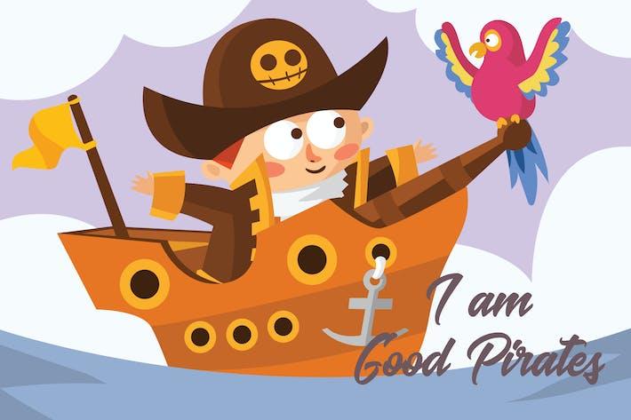 Thumbnail for Little Pirates - Vector Illustration
