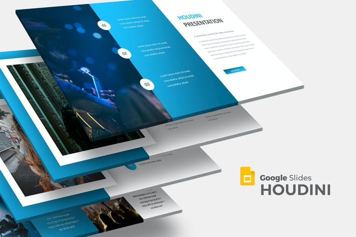 Cover Image For Houdini - Google Slides Template