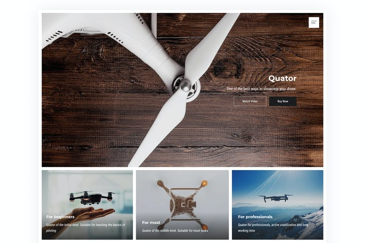 Thumbnail for Quator - Single Product WordPress Theme