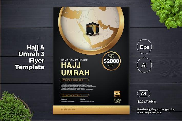 Thumbnail for Hajj and Umrah Travel Agent Flyer Template (GI)