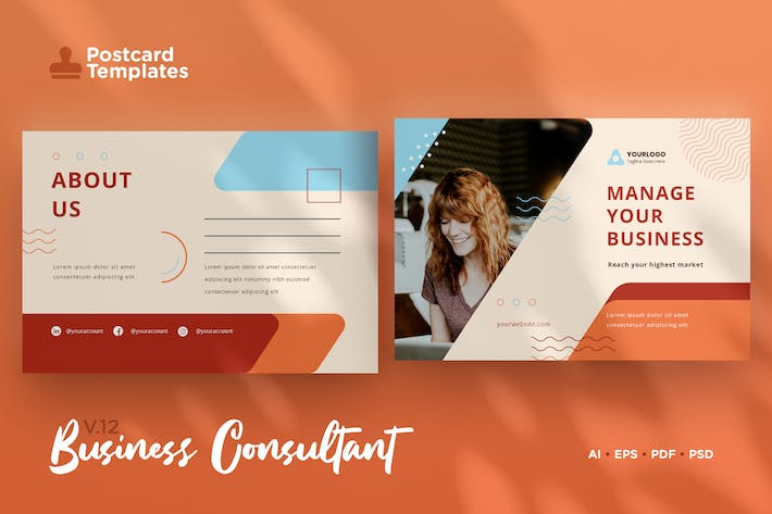 Thumbnail for Postcard Template Vol.12 Business Consultant
