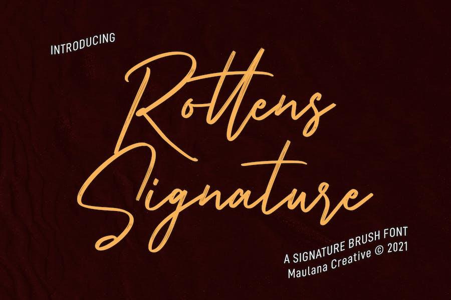Rottens Signature Brush Font