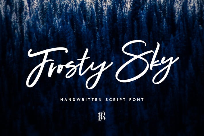 Thumbnail for Frosty Sky Font