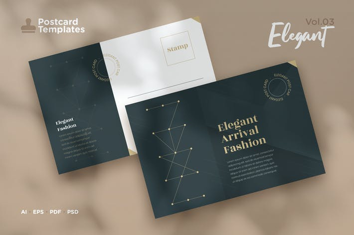 Thumbnail for Postcard Template Vol.03 Elegant