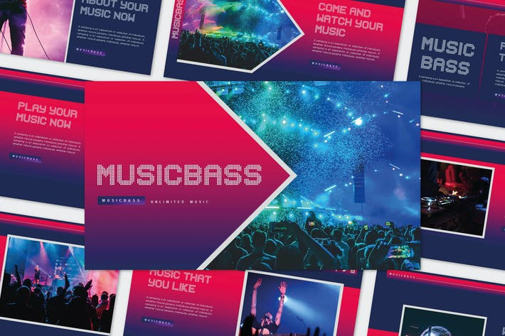 Thumbnail for MUSICBASS - Powerpoint Шаблон
