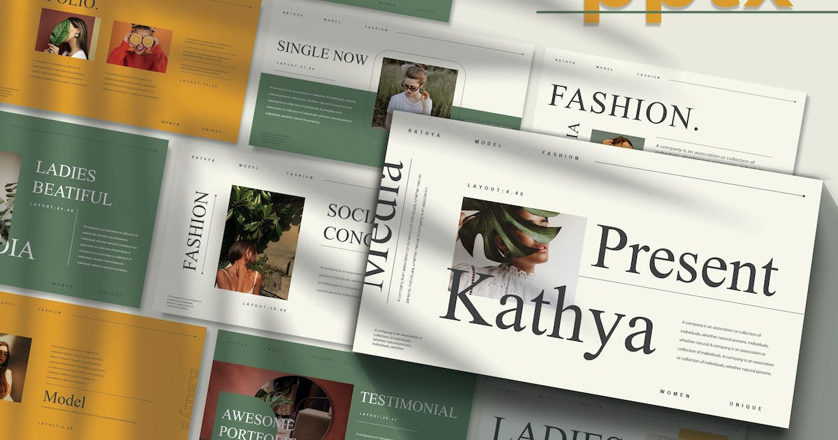Download KATHYA - Fashion Powerpoint Template by joelmaker