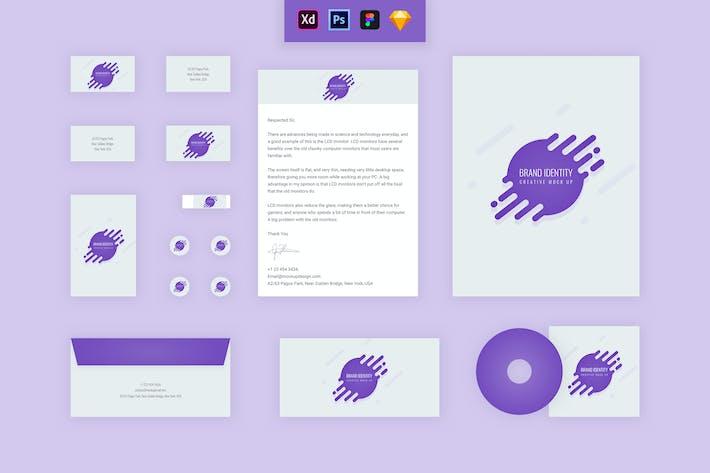Thumbnail for Identidade da marca Mock up - Droplet