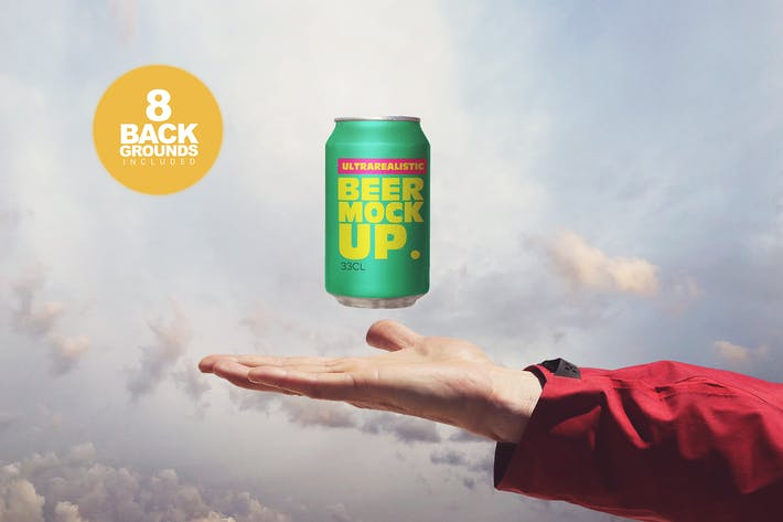 Thumbnail for Heavenly Beer Can Mockup