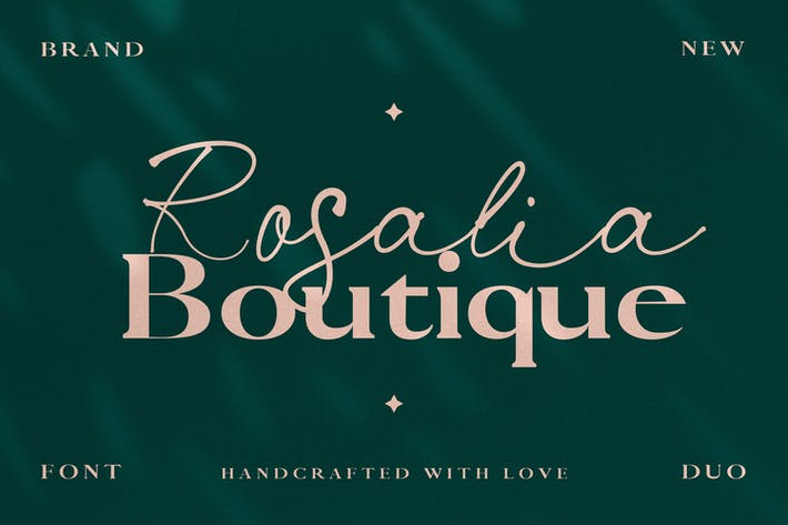 Thumbnail for Rosalia Boutique- Handwritten Script and Serif Duo