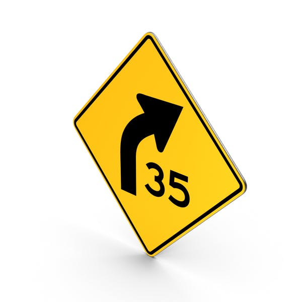 Cover Image for Road Sign Curve With Speed Advisory