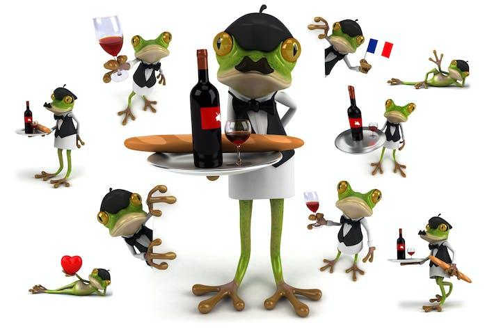 10 веселых французских лягушек!