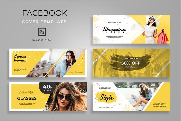 Thumbnail for Facebook Fashion Cover Template
