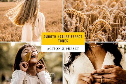 Smooth Nature Effect Tones Action & Lightroom Pres