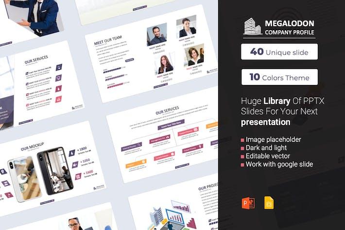 Thumbnail for Megalodon Company Profile PowerPoint presentation