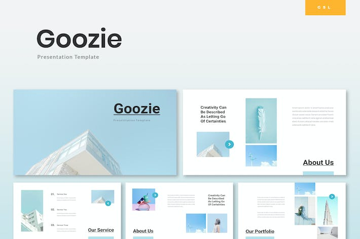 Thumbnail for Goozie - Startup Google Slides Template