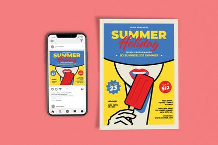 Summer Holiday Template Set