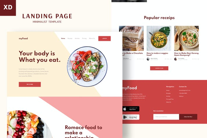 Thumbnail for Mytemp - Minimalist Landing Page