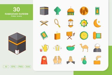 Ramadhan Kareem Color Icons