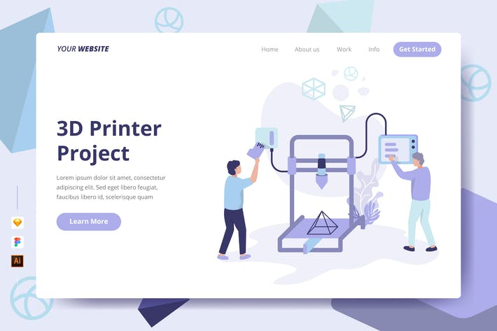 Thumbnail for 3D Printer Project - Landing Page