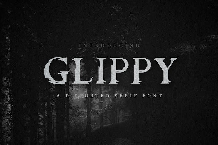 Thumbnail for Glippy Industrial Font