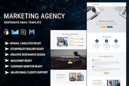 Agence de marketing - Modèle d'e-mail réactif