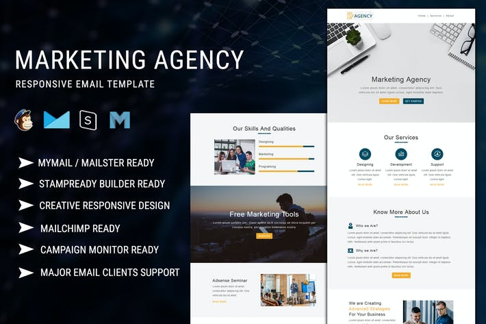Thumbnail for Marketing Agency - Responsive Email Template