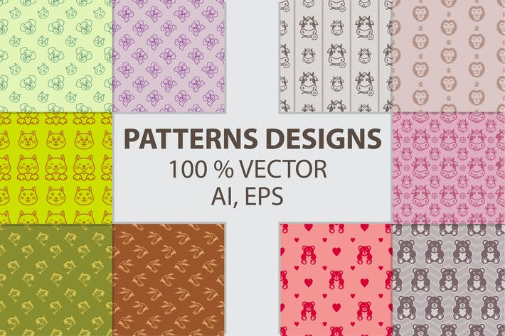 Thumbnail for DIGITAL PAPERS PATTERN DESIGNS BUNDLE