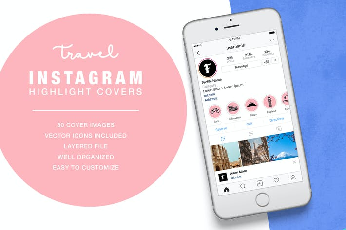 Thumbnail for Travel Instagram Highlight Cover