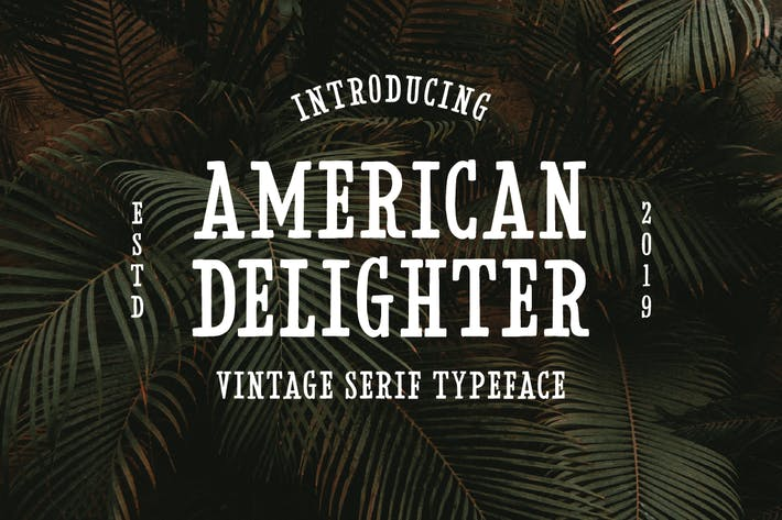 Thumbnail for American Delighter Vintage Typeface