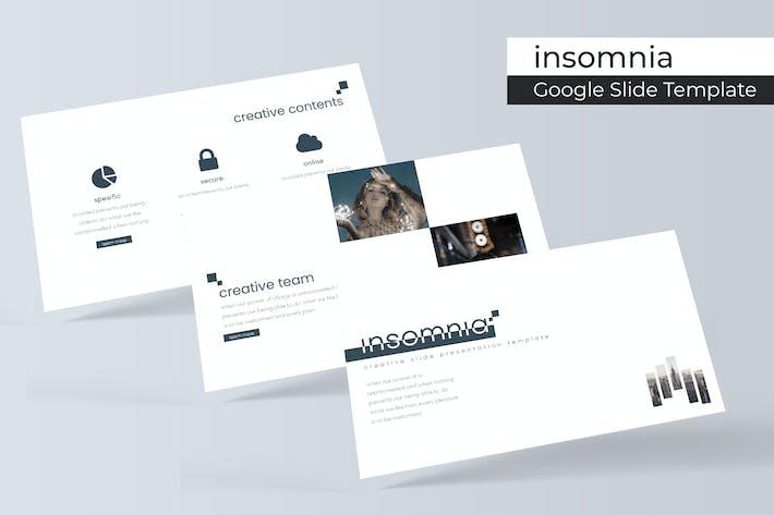 Cover Image For Insomnia - Google Slides Template