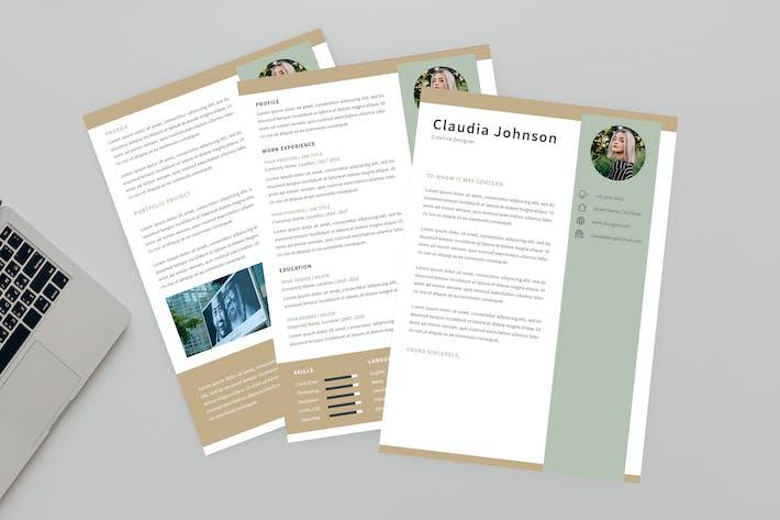 Thumbnail for Creative Designer Resume Designer