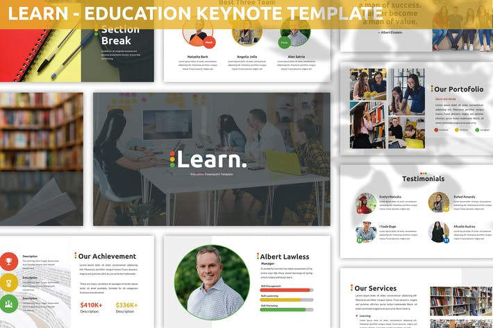 Thumbnail for Learn - Education Keynote Template
