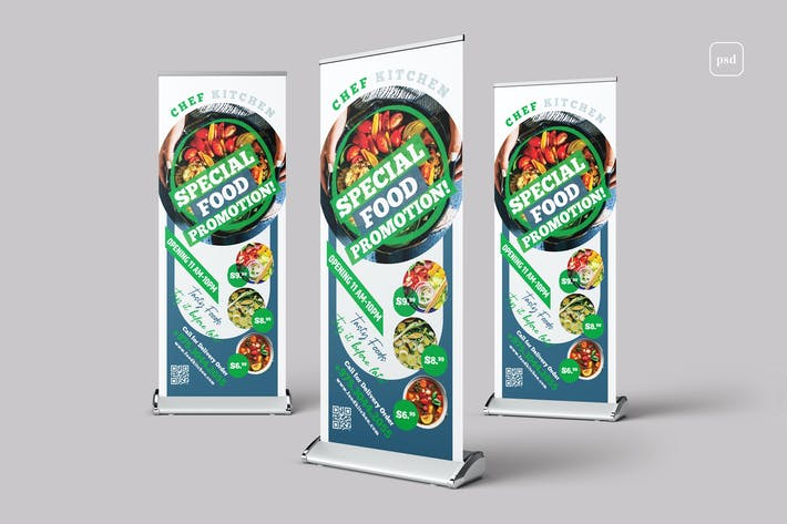 Restaurant Food Rollup Banner