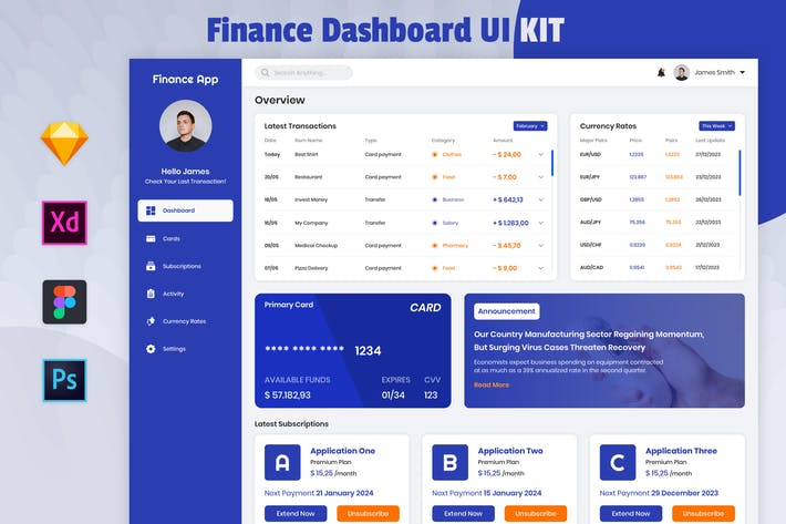 Thumbnail for Finance Dashboard Template - Nuzie