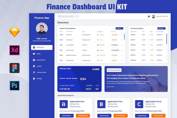 Thumbnail for Nuzie - Plantilla de panel de finanzas