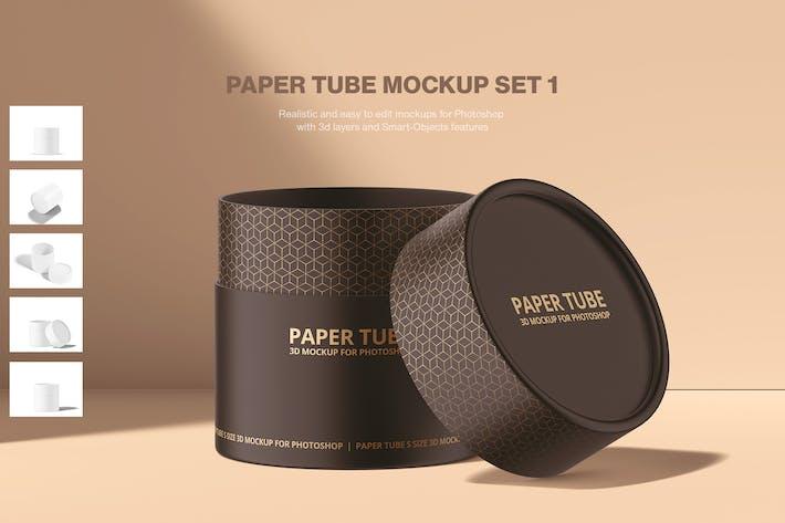Thumbnail for Paper Tube Mockup Set 1