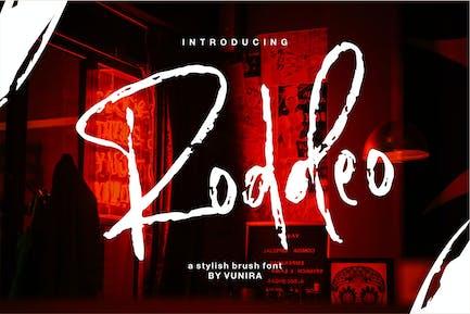 Roddeo | A Stylish Brush Font