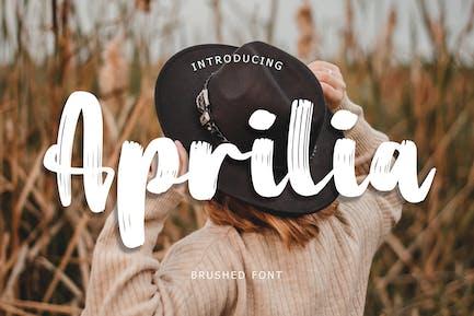 Aprilia Brush Font