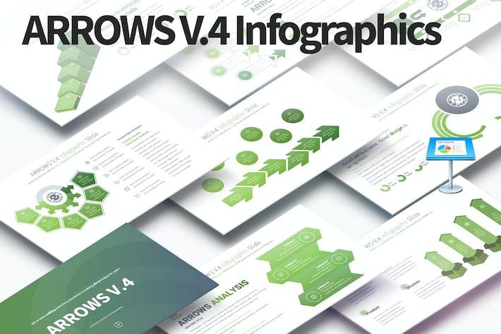 Thumbnail for Arrows V.4 - Keynote Infographics Slides
