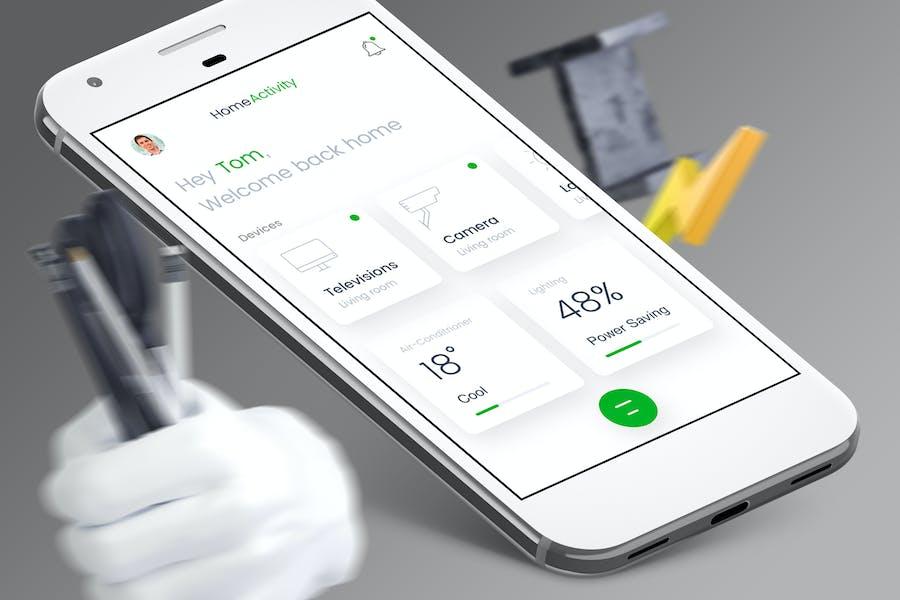 Smart Home Mobile Ui - T