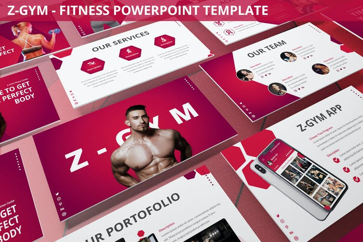 Thumbnail for Z-Gym - Fitness Powerpoint Vorlage