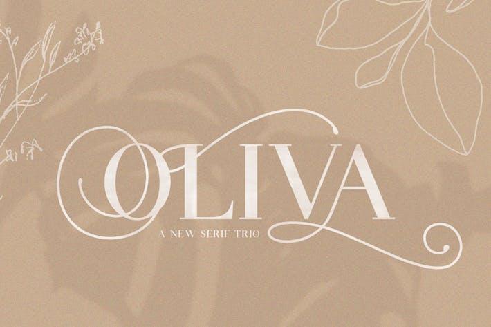 Thumbnail for Oliva Serif Font Trio