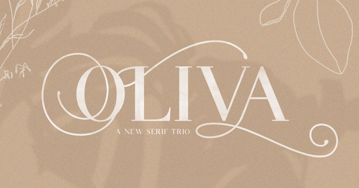 Download Oliva Serif Font Trio by maroonbaboon