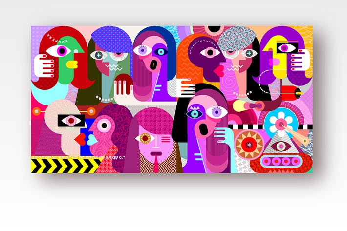 Thumbnail for Group of Strange People  vector illustration