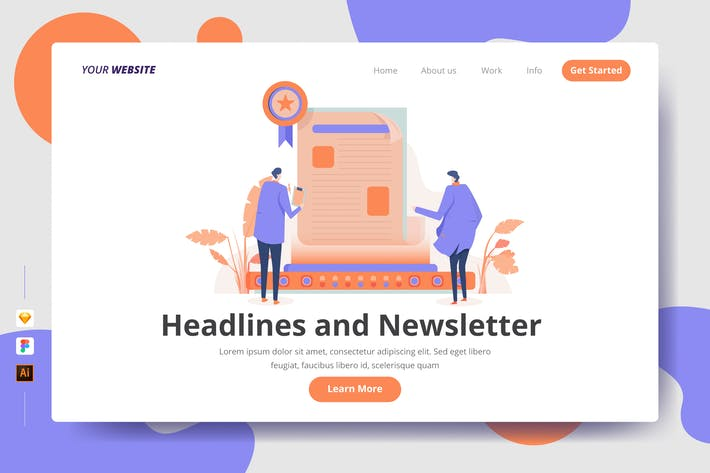 Thumbnail for Headlines and Newsletter - Landing Page