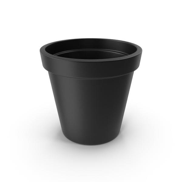 Керамический горшок черный