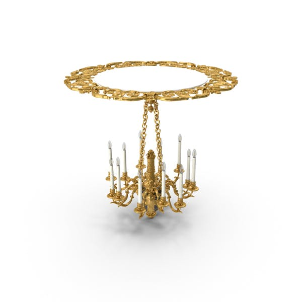 Thumbnail for Baroque Chandelier with LED Bulbs