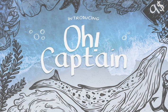 Thumbnail for Oh Captain Font