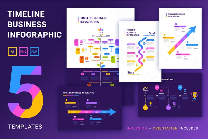 Thumbnail for Business infographics set